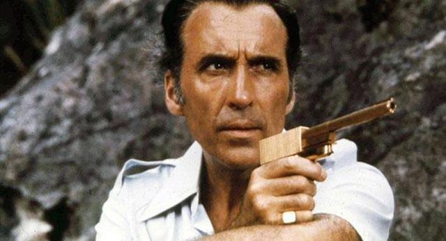 "Christopher Lee starred in ""007:  THE MAN WITH THE GOLDEN GUN."""