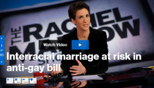 Rachel Maddow explains how Republican legislators in North Carolina are poised to override a veto by the governor of an anti-gay marriage bill that would also make it legal for clerks to reject marriage licenses for interracial or interfaith couples.