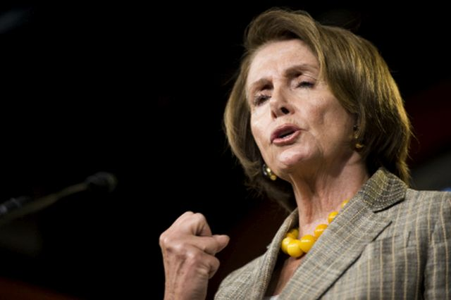 UNITED STATES - OCTOBER 1: House Minority Leader Nancy Pelosi, D-Calif., holds her weekly news conference on Wednesday, OCT. 1, 2014. (Photo By Bill Clark/CQ Roll Call)