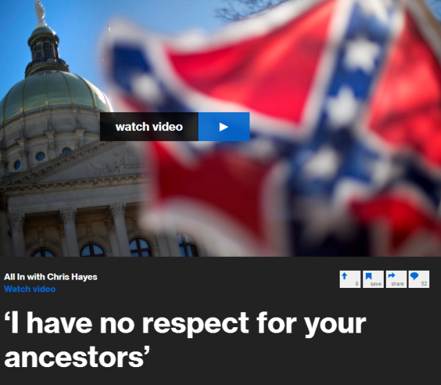 Law professor Paul Butler tells Chris Hayes he refuses to be polite about people's Confederate heritage when their ancestors, he says, thought his ancestors should be enslaved.