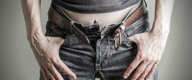 Unzipped jeans