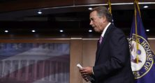 House Speaker John Boehner of Ohio leaves a news conference on Capitol Hill in Washington, Wednesday, July 29, 2015. An effort by a conservative Republican to strip Boehner of his position as the top House leader is largely symbolic, but is a sign of discontent among the more conservative wing of the House GOP. On Tuesday, Rep. Mark Meadows of North Carolina, who was disciplined earlier this year by House leadership, filed a resolution to vacate the chair, an initial procedural step.(AP Photo/Susan Walsh)