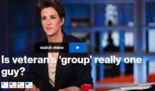 "Rachel Maddow points out that despite its billing as a ""policy speech,"" Donald Trump's brief address at the USS Iowa did not contain any actual policy, but it did raise money for a ""veterans group"" that apparently consists of a single person."