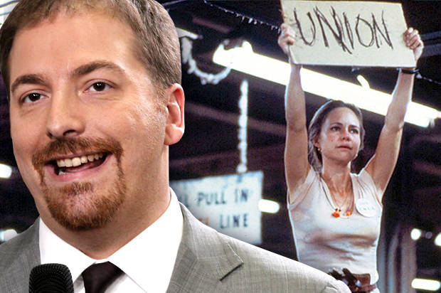"Chuck Todd; Sally Field in ""Norma Rae"" (Credit: AP/Charles Dharapak/Twentieth Century Fox)"