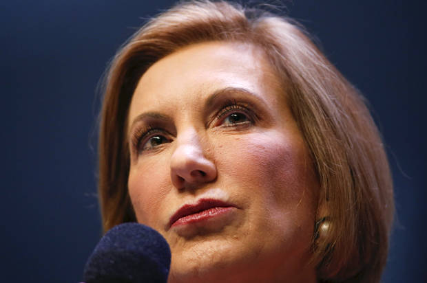 U.S. Republican presidential candidate and former CEO Carly Fiorina speaks during the Heritage Action for America presidential candidate forum in Greenville, South Carolina on September 18, 2015. REUTERS/Chris Keane - RTS1TQB