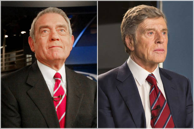 """News anchor Dan Rather rehearses on the CBS """"Evening News"""" set in New York, Thursday March 3, 2005. After 24 years at the anchor desk, Rather plans to make his final broadcast next Wednesday. (AP Photo/Bebeto Matthews)"""