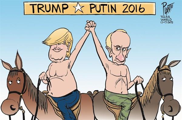 Bruce Plante Cartoon: Trump's running mate?, Donald J. Trump, Republican Presidential Primary Campaign 2016, GOP, RNC, The Donald, Plante 20151218