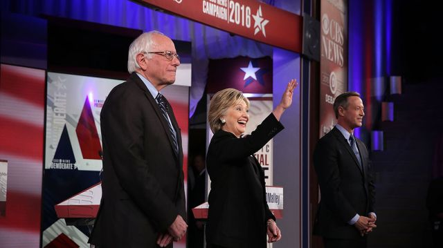 The three Democratic candidates who will be present at Saturday's debate, (from left) Bernie Sanders, Hillary Clinton and Martin O'Malley, are pictured at the Nov. 14 Democratic presidential debate. | Getty Read more: http://www.politico.com/story/2015/12/everything-you-need-to-know-about-saturdays-democratic-debate-