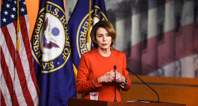House Minority Leader Nancy Pelosi is trying to convince members of her party that, while the bill isn't perfect, it is better than a full-year continuing resolution, which would lower spending levels drastically. | John Shinkle