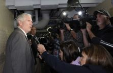 Rep. Mo Brooks, R-Ala., speaks with reporters following a closed-door meeting on Capitol Hill in Washington, Wednesday, Oct. 16, 2013. Senate leaders announced a last-minute agreement Wednesday to avert a threatened Treasury default and reopen the government after a partial, 16-day shutdown. Congress raced to pass the measure by day's end. (AP Photo/Susan Walsh)