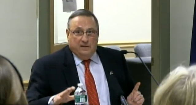 "Maine Gov. Paul LePage (R) partially blamed Maine's heroin epidemic on out-of-state drug dealers that ""impregnate"" white women."