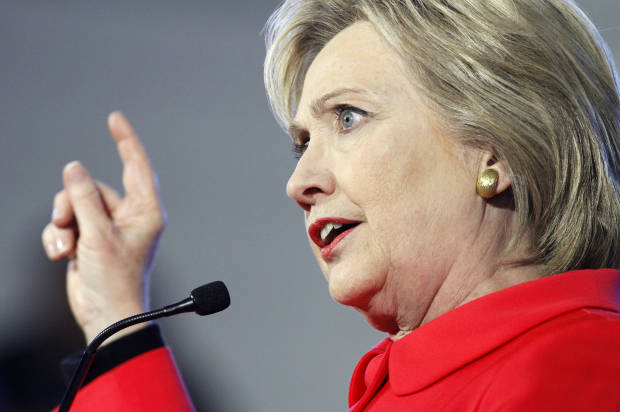 Democratic presidential candidate Hillary Clinton speaks during a town hall meeting at Denmark Olar Elementary School in Denmark, S.C., Friday Feb. 12, 2016. (AP Photo/Jacquelyn Martin)