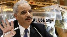 "Holder says, ""You know, we treat marijuana in the same way that we treat heroin now, and that clearly is not appropriate"""