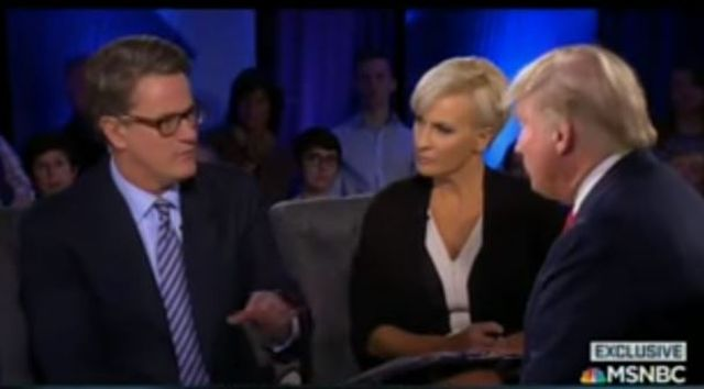 Someone at MSNBC has released audio of MSNBC's Joe Scarborough and Mika Brzezinski unprofessionally supporting and fawning all over Donald Trump during the commercial breaks of a recent Trump appearance on Morning Joe.