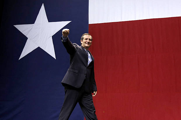 U.S. Sen. Ted Cruz, R-Texas, takes the stage to speak at a Republican victory party Tuesday, Nov. 4, 2014, in Austin, Texas. (AP Photo/David J. Phillip)