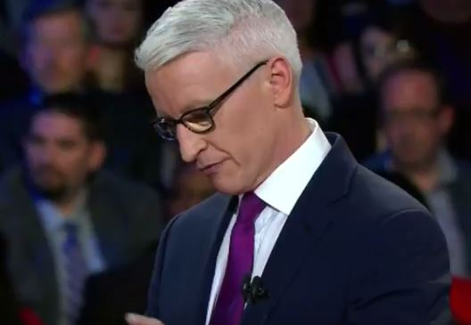 """During the CNN Democratic debate, Anderson Cooper carried water for an inaccurate media narrative that blames President Obama for racial relations growing """"worse"""" under his presidency, as if it's Obama's fault that some white people can't handle change."""