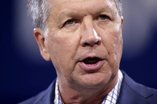 Republican presidential candidate Ohio Governor John Kasich speaks at the 2016 Conservative Political Action Conference (CPAC) at National Harbor, Maryland, March 4, 2016. REUTERS/Joshua Roberts - RTS9CUT