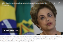 Brazil's president is in trouble. President Dilma Rousseff could be facing an impeachment hearing over the summer, right when the country is hosting the world for the Olympic Games. (Dom Phillips,Nick Miroff,Jason Aldag/The Washington Post)
