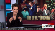 """Rachel Maddow exposes the widespread distaste for Republican presidential candidate Ted Cruz from members of his own party, including former House Speaker John Boehner who said Cruz was """"Lucifer in the flesh"""" and would be elected """"over my dead body."""""""