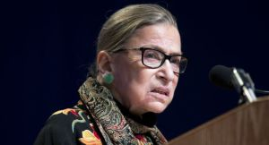 Justice Ruth Bader Ginsburg, in an opinion joined by the court's other liberals as well as Chief Justice John Roberts and Justice Anthony Kennedy, explicitly put aside the question of whether states could choose to use measures of registered voters when line-drawing and to what extent they could do so. | AP Photo