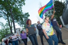 A Human Rights Campaign-led march on the Governor's mansion in Jackson on Monday.