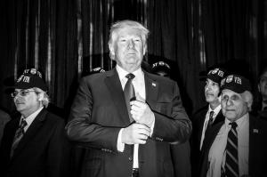 donald trump holds press conference and then speaks at a lunch for the Staten island GOP