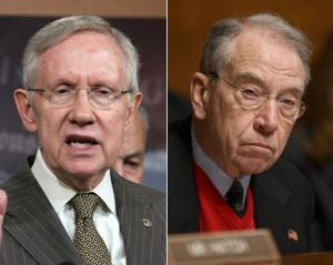 "Senator Harry Reid (D-NV) called out Senator Chuck Grassley (R-IA) for turning the Senate Judiciary Committee into a political arm of the Republican Party. ""What needs mending is the Judiciary Committee under his chairmanship, which he has annexed as a political arm of the Republican leader's office,"" Reid charged."