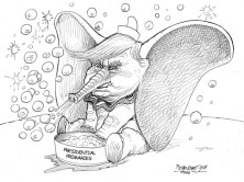 karikatur für tribüne-trumbo