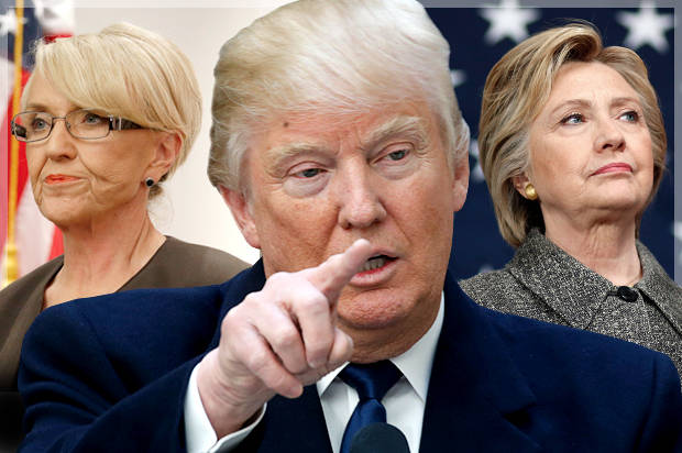 Jan Brewer, Donald Trump, Hillary Clinton