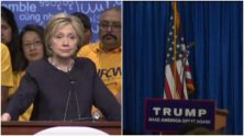 MSNBC, Fox News, and CNN are so in the bag for Donald Trump that they ignored Hillary Clinton's campaign speech in Las Vegas in favor of showing an empty podium before a Trump speech.