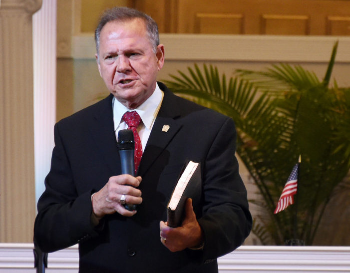 """Roy Moore is an embarrassment to the state of Alabama; we expect the Ethics Commission will permanently throw him out of office."""