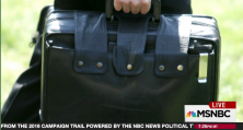 "Rachel Maddow explains what the nuclear football is and its corresponding ""biscuit"" and notes that when President Barack Obama makes his historic visit to Hiroshima, Japan, the nuclear football will not be far from hand."