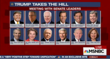 The third stop on Donald Trump's tour on Thursday was on the Senate side of the Hill, where there's a lot of fear among the 21 Republican incumbents running for re-election this year. NBC's Kelly O'Donnell reports for MTP Daily.