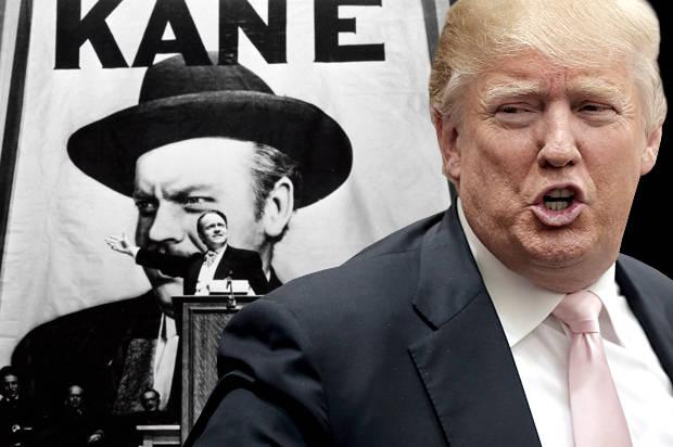 """Orson Welles in """"Citizen Kane;"""" Donald Trump(Credit: RKO/Reuters/Chris Keane/Photo montage by Salon)"""