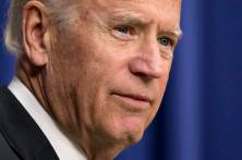 """Vice President Joe Biden speaks at the """"Summit on Climate and the Road through Paris: Business & Science Coming Together"""" in the Eisenhower Executive Office Building on the White House complex in Washington, Monday, Oct. 19, 2015. (AP Photo/Manuel Balce Ceneta)"""