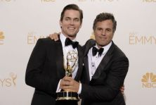 Matt Bomer and Mark Ruffalo after The Normal Heart won an Emmy for Outstanding Television movie. CREDIT: Dan Steinberg/Invision for the Television Academy/AP Images