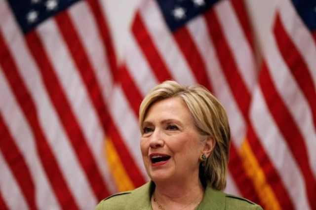 U.S. Democratic presidential nominee Hillary Clinton delivers remarks at a gathering of law enforcement leaders at John Jay College of Criminal Justice in New York, U.S., August 18, 2016. REUTERS/Lucas Jackson