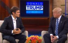 The Dr. Oz show edited out a section of Donald Trump's appearance where he discussed kissing his daughter Ivanka as often as possible.
