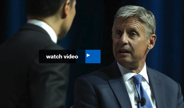 MSNBC's Chris Matthews asks Libertarian presidential candidate Gary Johnson and his running mate Bill Weld a series of questions, including who is their favorite foreign leader.