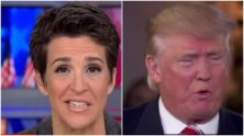Rachel Maddow was not allowed to participate in NBC's candidate forum on veterans' issues because Donald Trump would have objected to her involvement.