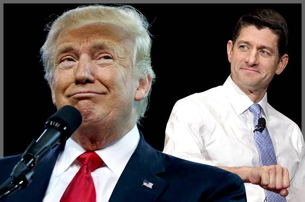 DONALD TRUMP AND SPEAKER PAUL RYAN