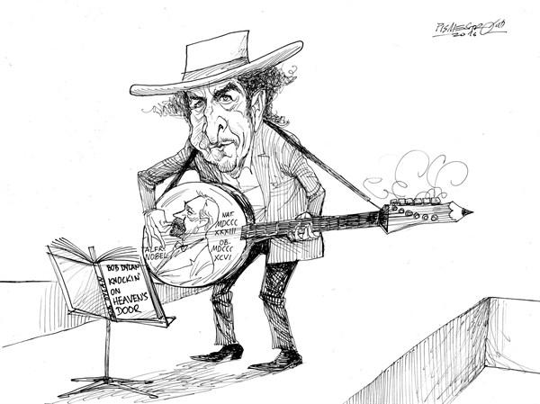 karikatur für tribüne- poet