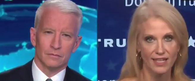 CNN's Anderson Cooper wrecked a favorite Trump lie while leaving campaign manager Kellyanne Conway completely flustered.
