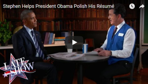 president obama gives mock to