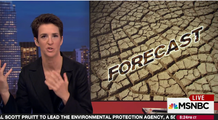 Rachel Maddow reports on Donald Trump's apparent selection of Scott Pruitt to lead the EPA, and Pruitt's history of not only fighting the EPA on environmental regulations but advocating on behalf of the fossil fuel industry, including rejecting climate science.