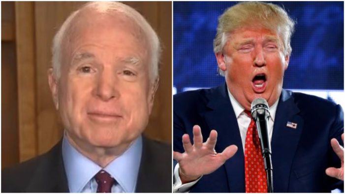 Sen. John McCain (R-AZ) called for a bipartisan select committee to investigate Russian hacks on Sunday during CNN's State of the Union. A joint select committee would be bad news for Trump because it guarantees that the Russian hack story will not go away.