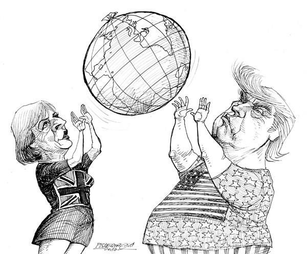 karikatur für tribüne-volleyball
