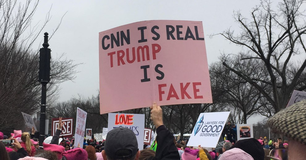 President Donald Trump and his team continued their unprecedented attempts to delegitimize and blacklist CNN by refusing to have a representative appear on CNN's Sunday political talk show, State of the Union, while booking appearances on the other major political talk shows on ABC, CBS, NBC, and Fox Broadcasting Co.