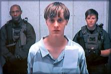 Dylann Storm Roof appears by closed-circuit television at his bond hearing in Charleston, South Carolina June 19, 2015 in a still image from video. A 21-year-old white man has been charged with nine counts of murder in connection with an attack on a historic black South Carolina church, police said on Friday, and media reports said he had hoped to incite a race war in the United States. REUTERS/POOL TPX IMAGES OF THE DAY - RTX1HB17