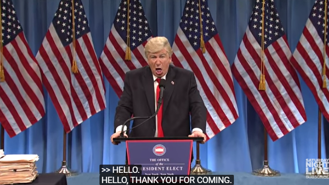 "On SNL, Baldwin's Trump proclaims of Ryan, ""I'm not gay, but I can't wait to give it to that man for four years!"""